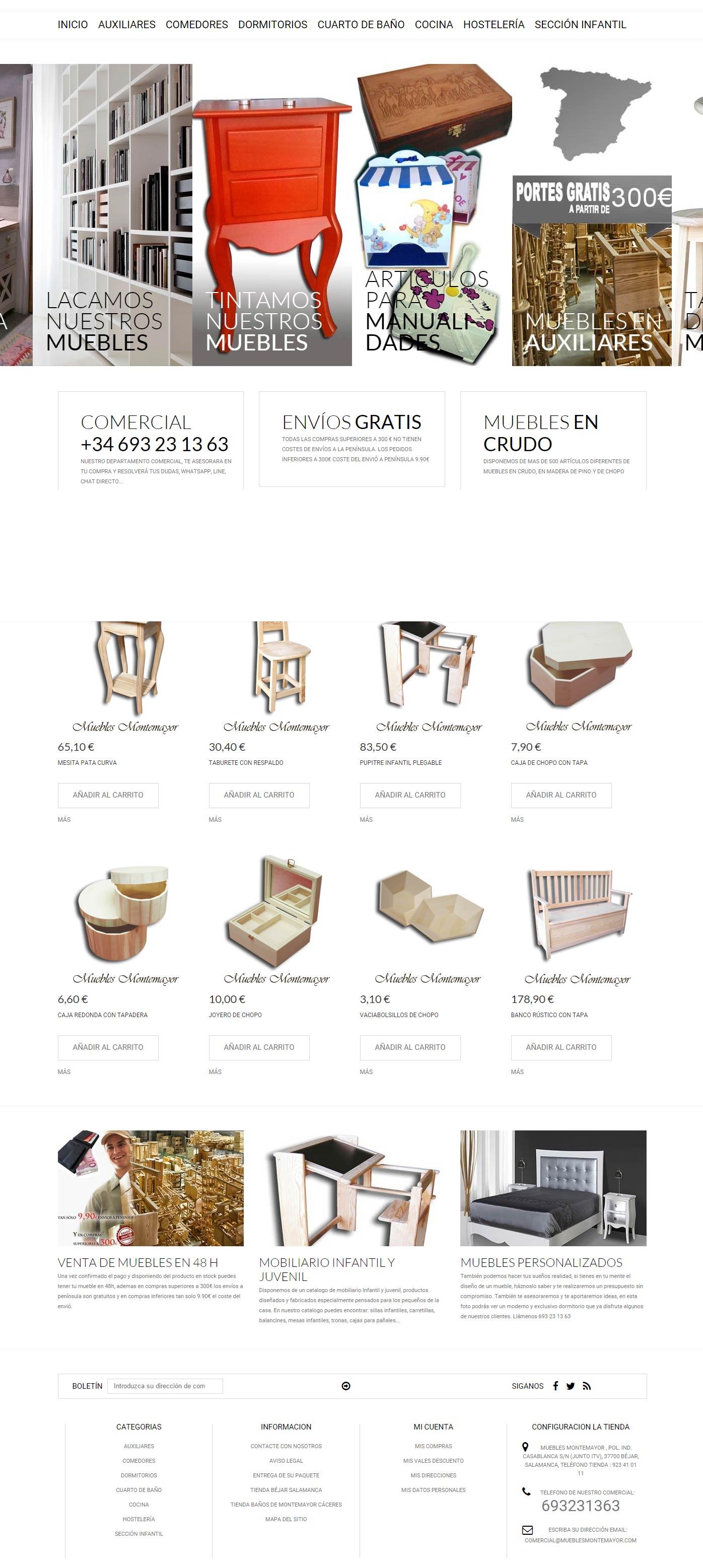 Creaccion de paginas web b jar guijuelo plasencia - Muebles montemayor ...